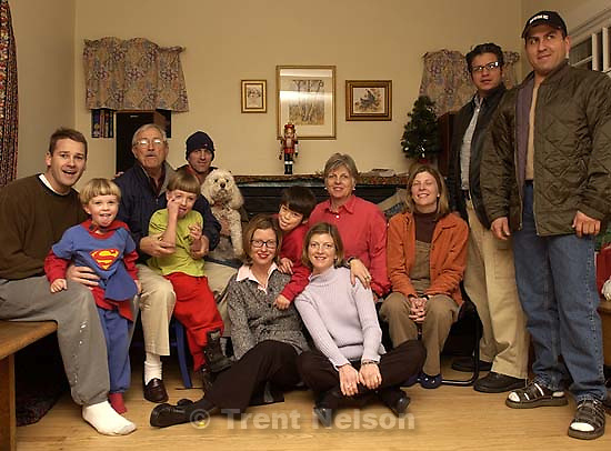 Family at Nelson Christmas Eve Party. 12.24.2001, 7:18:44 PM<br />