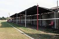 Covered area at Didcot Town FC Football Ground, Station Road, Didcot, Oxfordshire, pictured on 30th August 1993