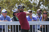 Adam Hadwin (CAN) watches his tee shot on 7 during day 2 of the World Golf Championships, Dell Match Play, Austin Country Club, Austin, Texas. 3/22/2018.<br /> Picture: Golffile | Ken Murray<br /> <br /> <br /> All photo usage must carry mandatory copyright credit (&copy; Golffile | Ken Murray)