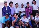 Teenage school students, Cayman Brac, Cayman Islands,