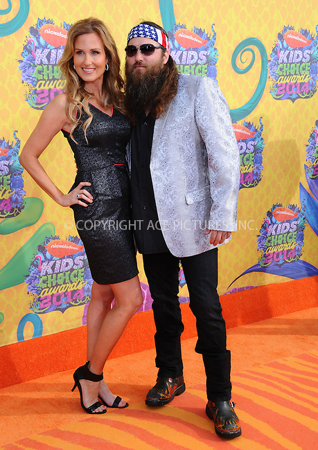 WWW.ACEPIXS.COM<br /> <br /> <br /> March 29,2014, Los Angeles,CA<br /> <br /> <br /> Korie Robertson and Willie Robertson arriving at Nickelodeon's 27th Annual Kids' Choice Awards held at USC Galen Center on March 29, 2014 in Los Angeles, California.<br /> <br /> <br /> <br /> By Line: Peter West/ACE Pictures<br /> <br /> ACE Pictures, Inc<br /> Tel: 646 769 0430<br /> Email: info@acepixs.com