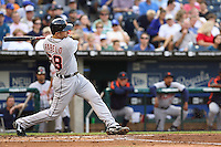 Detroit Tigers catcher Mike Rabelo in action against the Royals at Kauffman Stadium in Kansas City, Missouri on May 5, 2007.