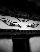 Eyes of Gayntse Kumbum, architectural details, Tibet