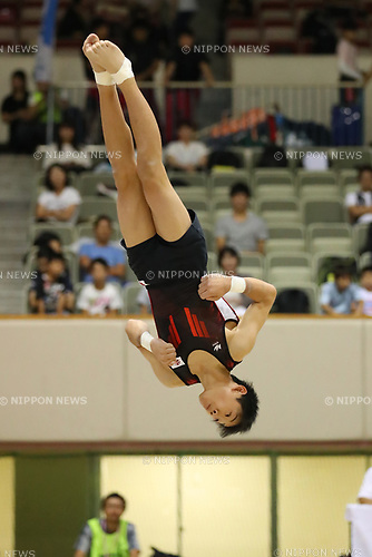 Kanato Nagasaki (), <br /> AUGUST 21, 2017 - Artistic Gymnastics : <br /> 48th All Japan Junior High School Championships <br /> Men's Individual All-Around <br /> Floor Exercise <br /> at Kitakyushu City General Gymnasium, Fukuoka, Japan. <br /> (Photo by YUTAKA/AFLO)