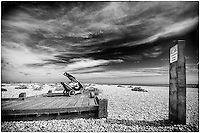Pushchair on the beach at Dungeness