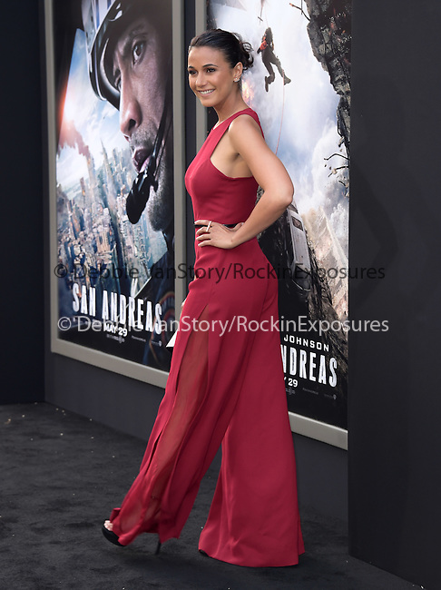 Emmanuelle Chriqui attends The Warner Bros. Pictures World Premiere of San Andreas held at the TCL Chinese Theatre  in Hollywood, California on May 26,2015                                                                               © 2015 Hollywood Press Agency