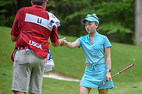 Luci Li (a)(USA) after making her putt on 13 during round 2 of the U.S. Women's Open Championship, Shoal Creek Country Club, at Birmingham, Alabama, USA. 6/1/2018.<br /> Picture: Golffile | Ken Murray<br /> <br /> All photo usage must carry mandatory copyright credit (&copy; Golffile | Ken Murray)