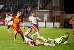 17.04.18 Brechin City v Dundee utd:<br /> Billy King celebrates his goal