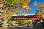 The Swift River Bridge in Conway, NH, USA