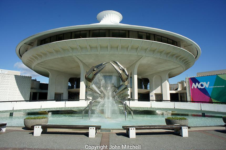 The H.R. MacMillan Planetarium and  Vancouver Museum in Vanier Park, Vancouver, British Columbia, Canada