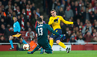 Antoine Griezmann of Atletico Madrid scores a goal to equalise during the UEFA Europa League Semi Final 1st leg match between Arsenal and Atletico Madrid at the Emirates Stadium, London, England on 26 April 2018. Photo by Andy Aleksiejczuk / PRiME Media Images