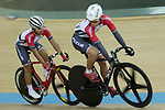 Choi Kwan Lok (L) and Fong Cheuk Shan (R) of the SCAA competes in the Men Junior - Sprint Final category during the Hong Kong Track Cycling National Championships 2017 at the Hong Kong Velodrome on 18 March 2017 in Hong Kong, China. Photo by Chris Wong / Power Sport Images