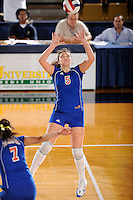 20 November 2008:  South Alabama setter Maria Kashavelova (5) sets up a shot during the FIU 3-1 victory over South Alabama in the first round of the Sun Belt Conference Championship tournament at FIU Stadium in Miami, Florida.