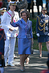Queen Sofia of Spain attends 2014 Spain Armed Forces Day in Madrid, Spain. June 08, 2013. (ALTERPHOTOS/Victor Blanco)