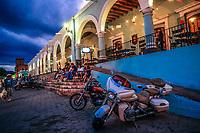 Motorcycle club meeting in Alamos town, Sonora, Mexic. Magical town: this Mexican town was known as Real de Los Álamos or de los Frayles. The City of Portals. ©<br /> (© Photo: LuisGutierrez / NortePhoto.com)<br /> <br /> Reunion de club de motociclistas en pueblo Alamos, Sonora, Mexic. Pueblo magico: esta villa mexicana fue conocido como Real de Los Álamos o de los Frayles. La Ciudad de los Portales. ©<br /> (© Photo:LuisGutierrez/ NortePhoto.com)