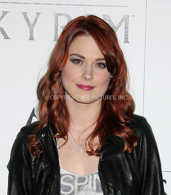 WWW.ACEPIXS.COM . . . . .  ..... . . . . US SALES ONLY . . . . .....November 8 2011, LA....Alexandra Breckenridge arriving at the Skyrim video game launch held at the Belasco Theater on November 8 2011 in Los Angeles....Please byline: FAMOUS-ACE PICTURES... . . . .  ....Ace Pictures, Inc:  ..Tel: (212) 243-8787..e-mail: info@acepixs.com..web: http://www.acepixs.com