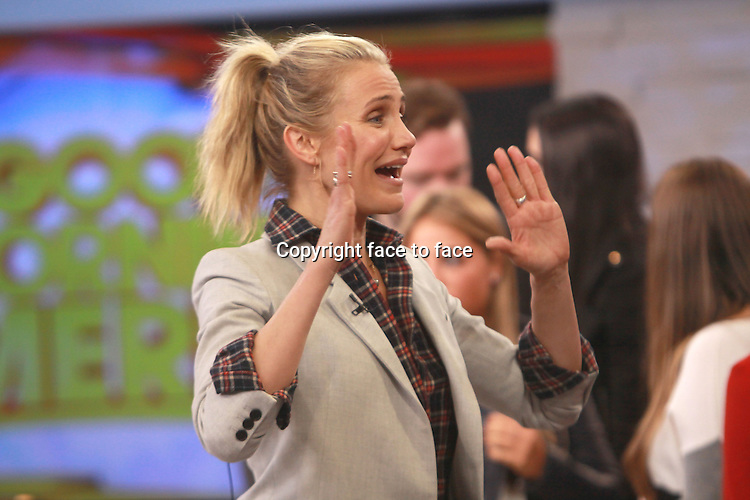 NEW YORK, NY - JANUARY 6: Cameron Diaz on the set of ABC's Good Morning America in New York City on January 6, 2013. Credit: RW/MediaPunch Inc.<br />