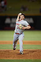 Chattanooga Lookouts pitcher Wyatt Strahan (36) during a Southern League game against the Birmingham Barons on July 24, 2019 at Regions Field in Birmingham, Alabama.  Chattanooga defeated Birmingham 9-1.  (Mike Janes/Four Seam Images)
