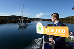 21-9-2017: Fran Whearty, Communications Executive, The National Lottery on his way to meet Mary Murphy, Post Mistress, Rerrin Post Office on Bere Island in County Cork after she sold a 500,000 Euro Millions Plus ticket.<br /> Photo: Don MacMonagle<br /> <br /> Issued on behlf of The National Lottery
