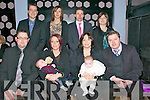 Double Christening : Baby Cory Michael Horgan-Slemon , brother of Osha & Dean, pictured with his parents Mike & Mags Horgan- Slemon, left front, and baby Austin Robert Slemon, brorher of Shauna, Jude & Anna and son of Mairead & Sheamus Slemon, Listowel, who were christened in St. Mary's Church, Listowel on Saturday last at 4.00pm by Canon O'Connor. At the back are godparents Keith Butler, Helen Slemon, Jonathon Norgrove & Rachael Guerin and the celebrations were held in The Mermaids , Listowel.