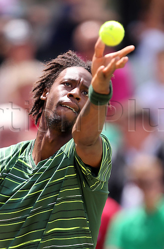 13.06.2015. Stuttgart, Germany.  Gael Monfils (FRA) plays Rafael Nadal (Esp) in the mens singles semi-final Nadal won the match by a score of 6-3 6-4 to make the final.
