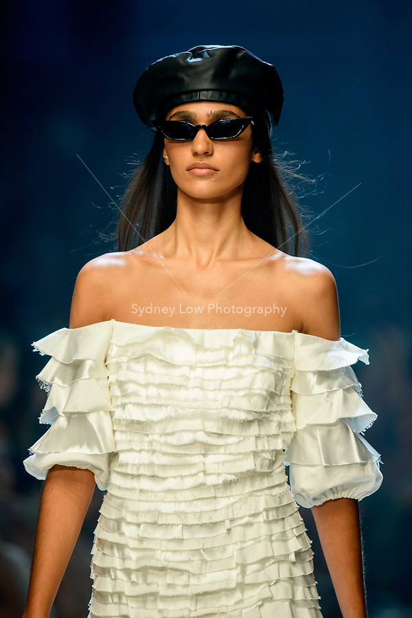 10 March 2018, Melbourne - Model showcases design by Atoir during the runway 6 show presented by Who What Wear at the 2018 Virgin Australia Melbourne Fashion Festival in Melbourne, Australia. (Photo Sydney Low / asteriskimages.com)