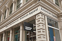 An American Apparel store is pictured in New York City, NY Thursday August 4, 2011. American Apparel is a clothing manufacturer in the United States.