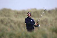 Killian McGinley (Sunningdale) on the 13th tee during Round 2 of the Ulster Boys Championship at Portrush Golf Club, Portrush, Co. Antrim on the Valley course on Wednesday 31st Oct 2018.<br /> Picture:  Thos Caffrey / www.golffile.ie<br /> <br /> All photo usage must carry mandatory copyright credit (&copy; Golffile | Thos Caffrey)