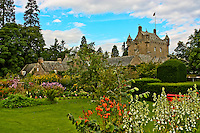 A view of Cawdor Castle from the gardens