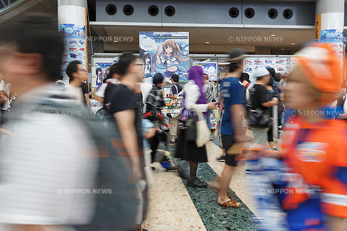 Anime fans and cosplayers gather during the Comic Market 94 (Comiket) event at Tokyo Big Sight on August 11, 2018, Tokyo, Japan. The annual event that began in 1975 focuses on manga, anime, game and cosplay. Organizers expect more than 500,000 visitors to attend the 3-day event. (Photo by Rodrigo Reyes Marin/AFLO)