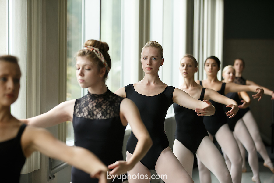1309-37 087<br /> <br /> 1309-37 Theatre Ballet Class<br /> <br /> Shani Robison<br /> <br /> September 13, 2013<br /> <br /> Photo by Jaren Wilkey/BYU<br /> <br /> &copy; BYU PHOTO 2013<br /> All Rights Reserved<br /> photo@byu.edu  (801)422-7322