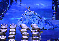 August 12, 2012..A Brazilian artist Marisa Monte performs during closing ceremony at the Olympic Stadium on the last day of 2012 Olympic Games in London, United Kingdom.