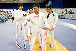 Japan team group (JPN),<br /> AUGUST 11, 2013 - Fencing :<br /> World Fencing Championships Budapest 2013, Men's Team Epee Round of 32 at Syma Hall in Budapest, Hungary. (Photo by Enrico Calderoni/AFLO SPORT) [0391]Satoru Uyama, Yoshiki Hirano, Keisuke Sakamoto, Kazuyasu Minobe,