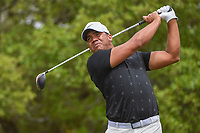 Jhonattan Vegas (VEN) watches his tee shot on 2 during day 1 of the Valero Texas Open, at the TPC San Antonio Oaks Course, San Antonio, Texas, USA. 4/4/2019.<br /> Picture: Golffile | Ken Murray<br /> <br /> <br /> All photo usage must carry mandatory copyright credit (© Golffile | Ken Murray)