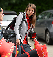 20170725 - TILBURG , NETHERLANDS :  Belgian Laura De Neve pictured going back to Belgium as the Belgian national women's soccer team Red Flames was not able to qualify for the quarter finals after a loss against The Netherlands , on Tuesday 25 July 2017 in Tilburg . The Red Flames finished on 3 th place in Group A at the Women's European Championship 2017 in the Netherlands. PHOTO SPORTPIX.BE | DAVID CATRY
