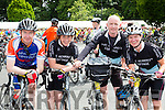 Beaufort cyclists Fergal Smith, Denise Smith, Andy and Norma McHugh at the finish of the Ring of Kerry cycle in Killarney on Saturday