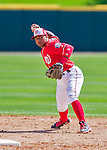 28 February 2016: Washington Nationals infielder Wilmer Difo in action during an inter-squad pre-season Spring Training game at Space Coast Stadium in Viera, Florida. Mandatory Credit: Ed Wolfstein Photo *** RAW (NEF) Image File Available ***