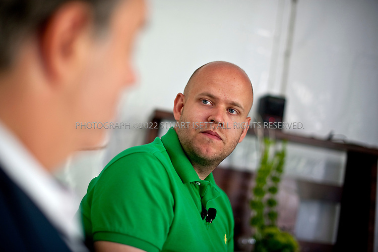 July 21st, 2011--Aspen, CO, USA..Daniel Ek, CEO and Co-founder of Spotify, is interviewed by Andy Serwer at Fortune Brainstorm TECH at the Aspen Institute Campus...Photograph by Stuart Isett