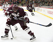 Mike Borkowski (Colgate - 21) - The Harvard University Crimson defeated the visiting Colgate University Raiders 7-4 (EN) on Saturday, February 20, 2016, at Bright-Landry Hockey Center in Boston, Massachusetts,