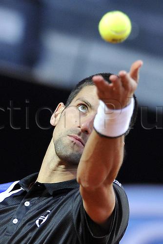 19.05.2012. Rome, Italy.  Novak Djokovic of Serbia Italian Open tennis tournament, Rome, Italy.