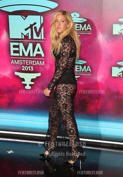 Ellie Goulding arriving at the MTV EMA awards, Amsterdam, Netherlands. 10/11/20013 Picture by: Henry Harris / Featureflash