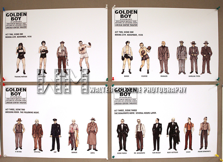 Costume Design by Catherine Zuber the Meet & Greet for the Lincoln Center Theater's 75th Anniversary Production of 'Golden Boy' at their Rehearsal Studios on 10/25/2012 in New York.