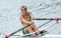 Amsterdam, NETHERLAND, AUS BW1X. Madeleine EDMUNDS. 2011 FISA U23 World Rowing Championships, Thursday, 21/07/2011 [Mandatory credit:  Intersport Images].