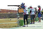 Yukie Nakayama (JPN), <br /> AUGUST 19, 2018 - Shooting - Clay : <br /> Women's Trap Day-1 Qualification <br /> at Jakabaring Sport Center Shooting Range <br /> during the 2018 Jakarta Palembang Asian Games <br /> in Palembang, Indonesia. <br /> (Photo by Yohei Osada/AFLO SPORT)