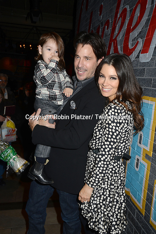 "Ricky Paull Goldin and son  Kai and Gretta Monahan  attends the Ricky Paull Goldin premiere party and fundraiser for his new HGTV show ""Spontaneous Construction"" which will air on February 15, 2013. The party was on February 10, 2013 at Guy's American Kitchen in New York City."