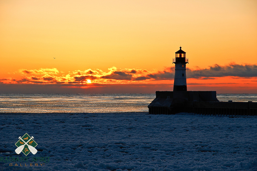 &quot;Duluth Winter Sunrise&quot;<br />