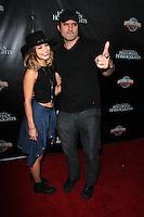 LOS ANGELES - SEP 18:  Vanessa Hudgens, Robert Rodriguez at the Universal Studio's Halloween Horror Nights 2014 Eyegore Award at Universal Studios on September 18, 2014 in Los Angeles, CA