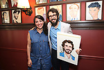 Rachel Chavkin and Josh Groban during the Josh Groban Sardi's Portrait Unveiling  at Sardi's on June 2, 2017 in New York City.