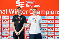 Picture by Allan McKenzie/SWpix.com - 13/12/2017 - Swimming - Swim England Winter Championships - Ponds Forge International Sport Centre - Sheffield, England - William Bell and James Wilby take gold in the mens open 200m breastroke.