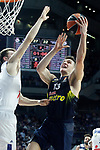 Real Madrid's Luka Doncic (l) and Fenerbahce Istambul's Bogdan Bogdanovic during Euroleague, Regular Season, Round 29 match. March 31, 2017. (ALTERPHOTOS/Acero)